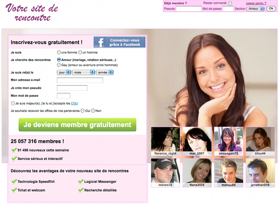 site de rencontre one shot